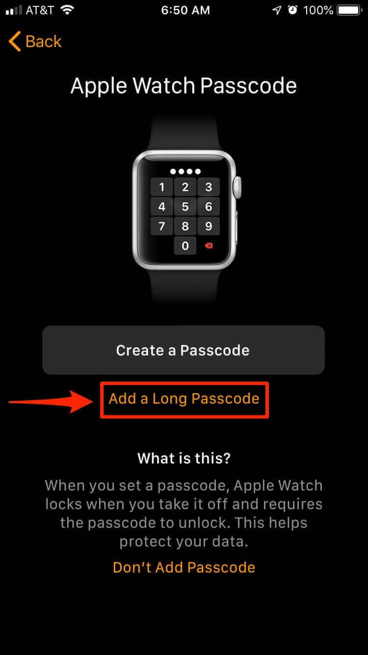 設定Watch密碼