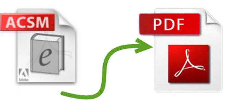 ACSM轉換為PDF