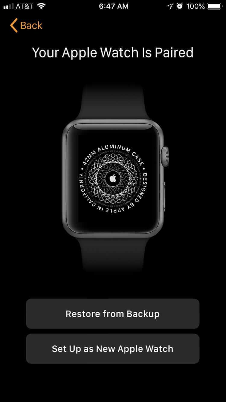 設定為新Apple Watch