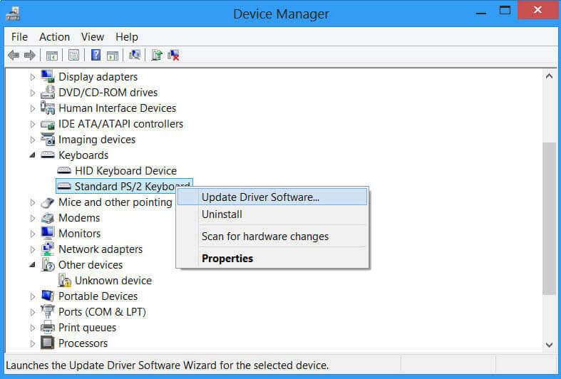 更新或重新安裝装置驅動程式