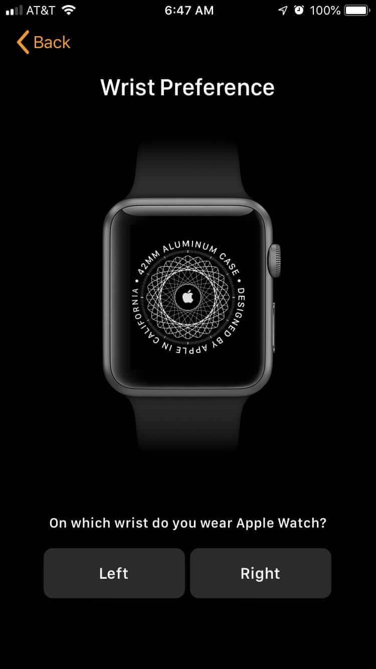 選擇佩戴手錶的手腕
